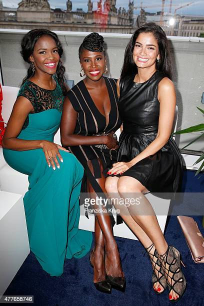 Otlile Mabuse, Motsi Mabuse and Shermine Shahrivar attend the Bertelsmann Summer Party on June 18, 2015 in Berlin, Germany.