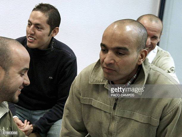 Otman el Gnaoui one of the 28 defendants accused of being involved in the bombing attacks against Madrid's Railway Station on 11 March 2004 appears...