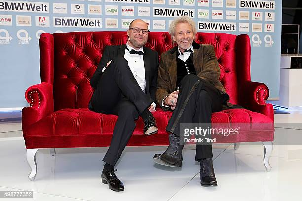 Otmar Ehrl and Thomas Gottschalk attend the Querdenker Award 2015 at BMW World on November 25 2015 in Munich Germany