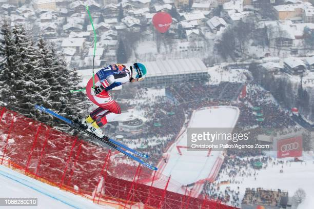 Otmar Striedinger of Austria competes during the Audi FIS Alpine Ski World Cup Men's Downhill on January 25 2019 in Kitzbuehel Austria