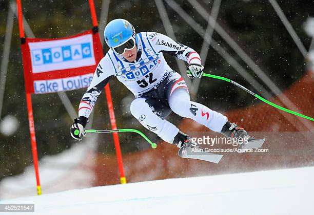 Otmar Striedinger of Austria competes during the Audi FIS Alpine Ski World Cup Men's Downhill Training on November 29 2013 in Lake Louise Canada