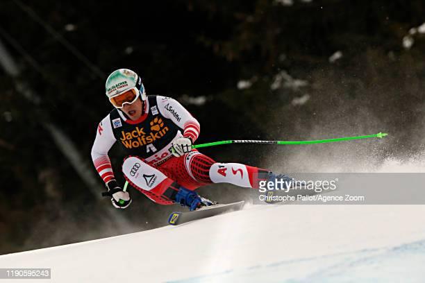 Otmar Striedinger of Austria in action during the Audi FIS Alpine Ski World Cup Men's Downhill on December 27, 2019 in Bormio Italy.