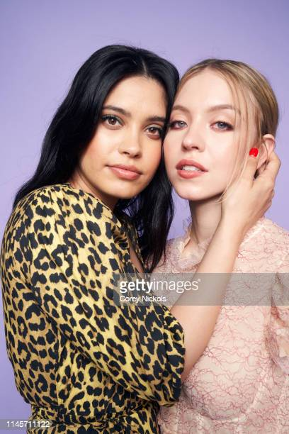 Otmara Marrero and Sydney Sweeney of film 'Clementine' pose for a portrait during the 2019 Tribeca Film Festival at Spring Studio on April 28 2019 in...