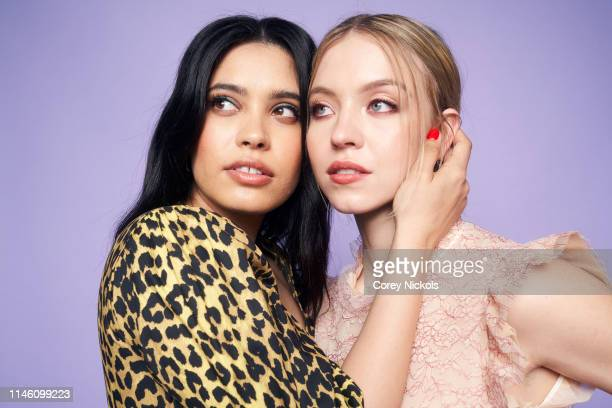 Otmara Marrero and Sydney Sweeney of the film 'Clementine' pose for a portrait during the 2019 Tribeca Film Festival at Spring Studio on April 28...
