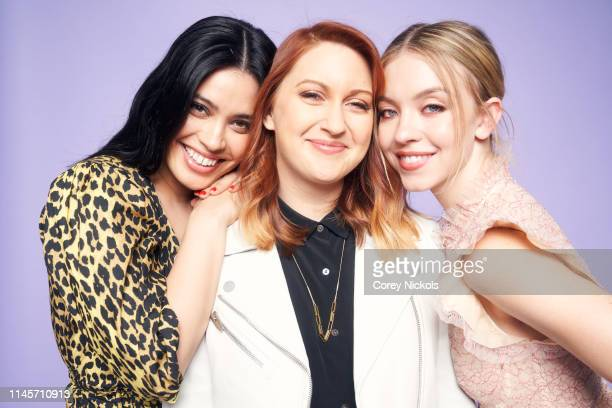 Otmara Marrero Lara Jean Gallagher and Sydney Sweeney of film 'Clementine' pose for a portrait during the 2019 Tribeca Film Festival at Spring Studio...