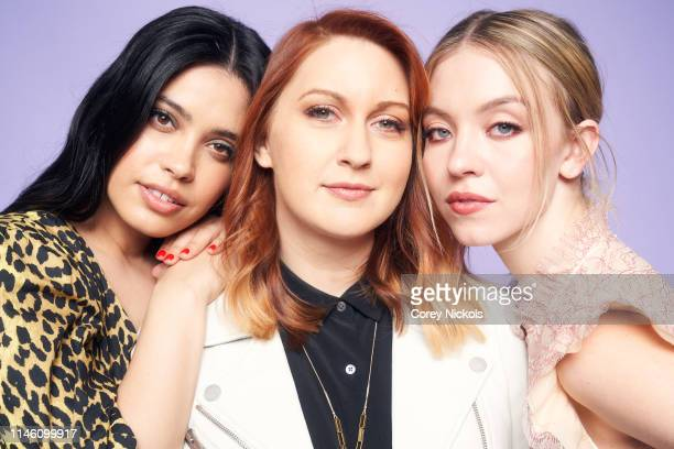 Otmara Marrero Lara Jean Gallagher and Sydney Sweeney of the film 'Clementine' pose for a portrait during the 2019 Tribeca Film Festival at Spring...