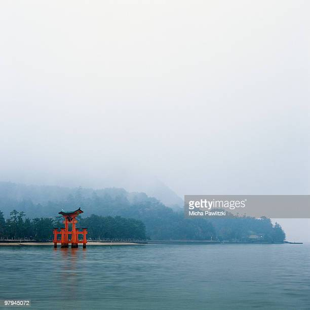 Otorii gate on Miyajima Island / Japan