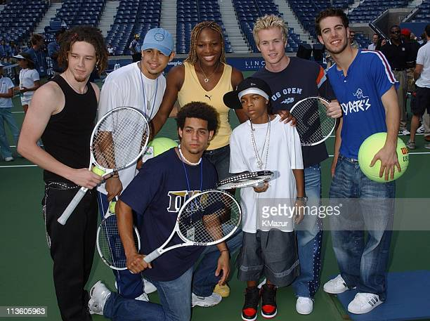 OTown Serena Williams Lil' Bow Wow during 2001 Arthur Ashe Kids' Day at USTA National Tennis Center in Flushing Meadows New York United States