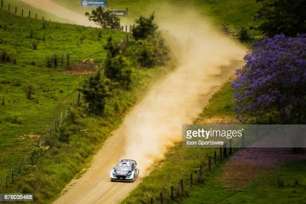 Ott Tanak and codriver Martin Jarveoja of MSport compete in the Argents section on day two of the Rally Australia round of the 2017 FIA World Rally...