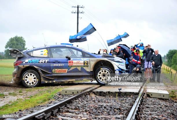 Ott Tanak EST Martin Jarveoja EST M Sport World Rally Team during the WRC Orlen 74 Rally Poland on June 30 2017 in Mikolajki Poland