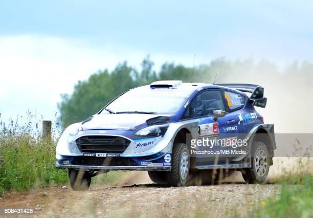 Ott Tanak EST Martin Jarveoja EST M Sport World Rally Team during the WRC Orlen 74 Rally Poland on July 01 2017 in Mikolajki Poland