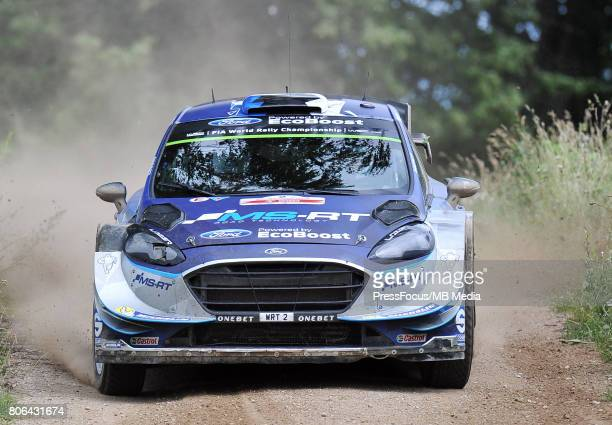 Ott Tanak EST Martin Jarveoja EST M Sport World Rally Team during the WRC Orlen 74 Rally Poland on July 01 2017 in Mikolajki Poland