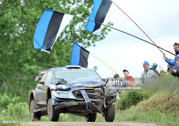 Ott Tanak EST Martin Jarveoja EST M Sport World Rally Team during the WRC Orlen 74 Rally Poland on July 02 2017 in Mikolajki Poland