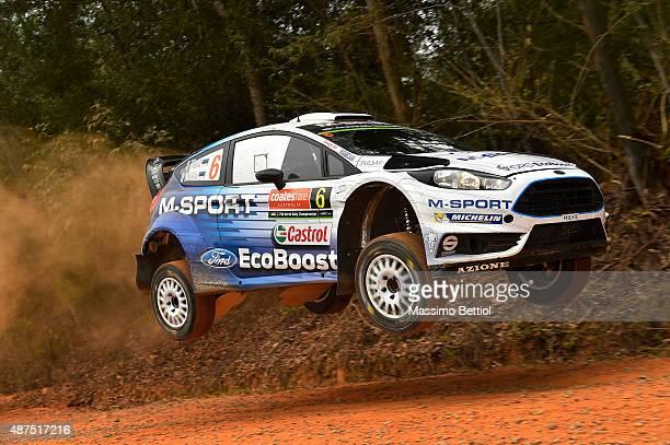 Ott Tanak of Estonia and Raigo Molder of Estonia compete in their MSport WRT Ford Fiesta RS WRC during the Shakedown of the WRC Australia on...