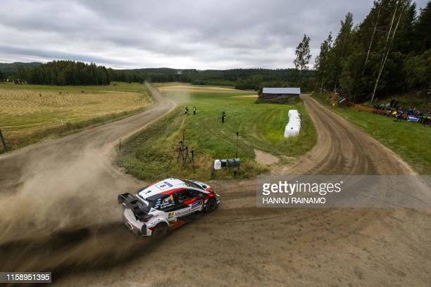 Ott Tanak of Estonia competes during the Neste Rally Finland in Jyvaskyla central Finland on August 2 2019 / Finland OUT