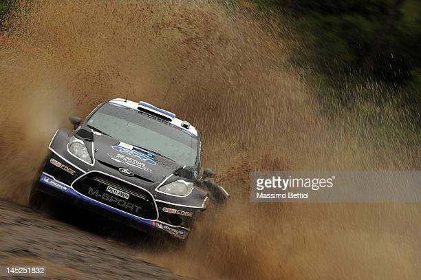 Ott Tanak of Estonian and Kuldar Sikk of Estonian compete in their MSport Ford WRT Ford Fiesta RS WRC during the Shakedown of the WRC Rally Acropolis...