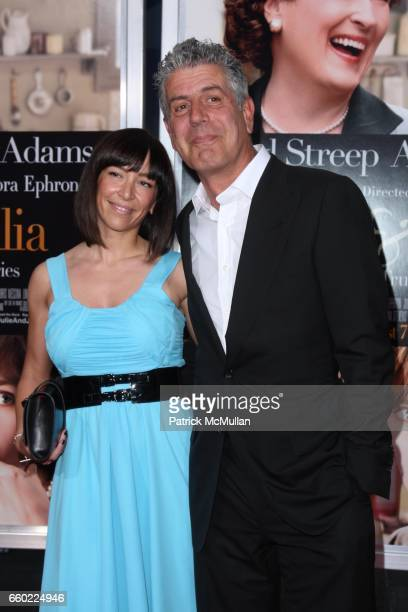 Ottavia Busia and Anthony Boudain attend COLUMBIA PICTURES Presents the World Premiere of JULIE JULIA at Ziegfeld Theatre on July 30 2009 in New York...