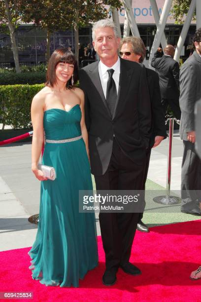 Ottavia Busia and Anthony Bourdain attend 2009 CREATIVE ARTS EMMY AWARDS at NOKIA Theatre on September 12 2009 in Los Angeles California