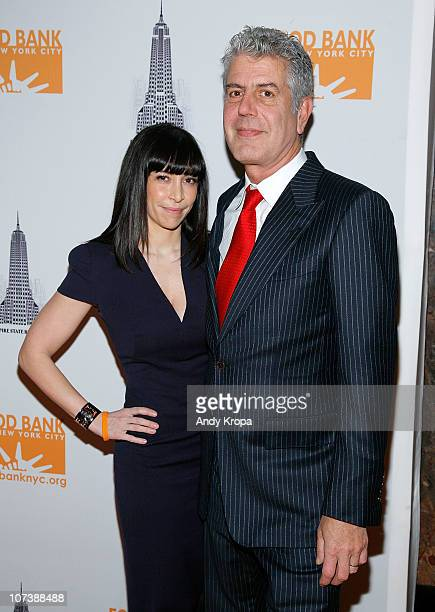 Ottavia Busia and Anthony Bourdain attend the launch of The Culinary Council at The Empire State Building on December 7 2010 in New York City