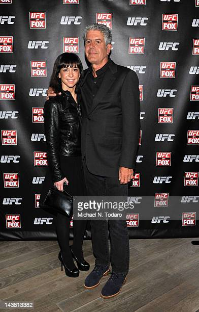 Ottavia Busia and Anthony Bourdain attend UFC On FOX VIP Party at Mondrian Soho on May 3 2012 in New York City