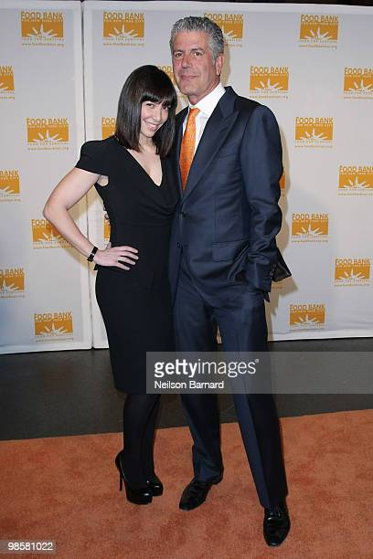 Ottavia Busia and Chef Anthony Bourdain attend the 8th Annual CanDo Awards Dinner at Pier Sixty at Chelsea Piers on April 20 2010 in New York City