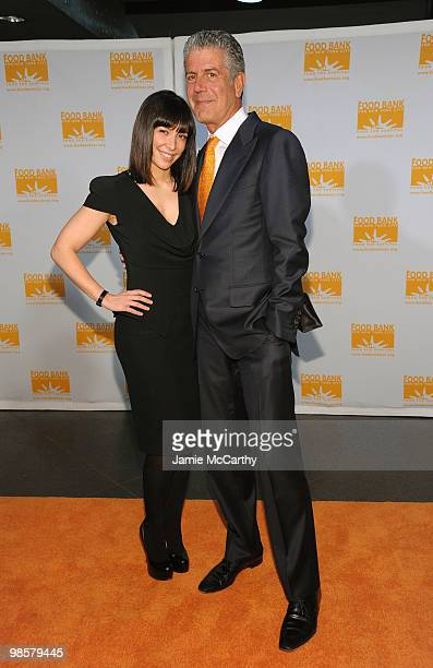 Ottavia Busia and Chef Anthony Bourdain attend the Food Bank for New York City's 8th Annual CanDo Awards dinner at Abigail Kirsch�s Pier Sixty at...