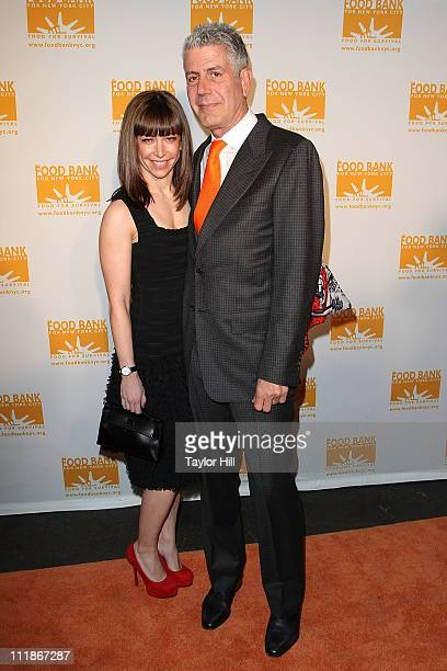 Ottavia Busia and husband chef Anthony Bourdain attend the 2011 CanDo Awards Dinner at Pier Sixty at Chelsea Piers on April 7 2011 in New York City