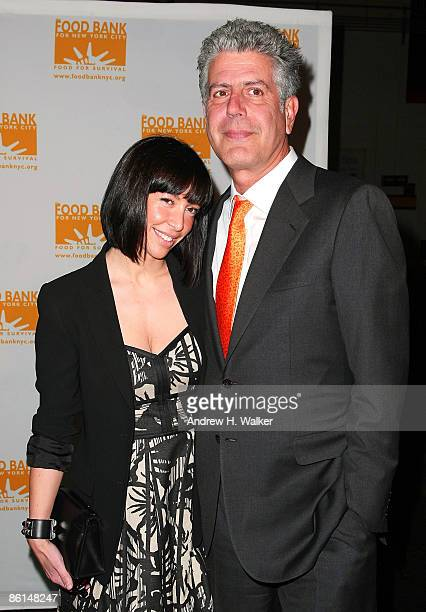 Ottavia Busia and TV Personality Anthony Bourdain attend the 6th annual CanDo Awards dinner and auction hosted by the Food Bank for New York City at...