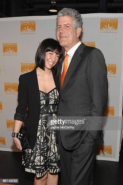 Ottavia Busia and TV Personality Anthony Bourdain attend the Food Bank For New York City's Sixth Annual CanDo Awards at Abigail Kirsch's Pier Sixty...