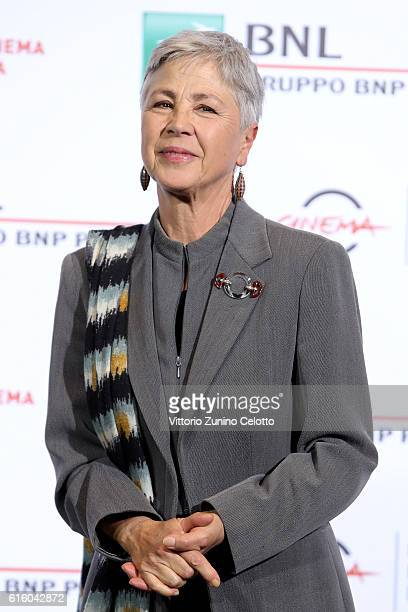 Ottavia Piccolo attends a photocall for '7 Minuti' during the 11th Rome Film Festival at Auditorium Parco Della Musica on October 21 2016 in Rome...