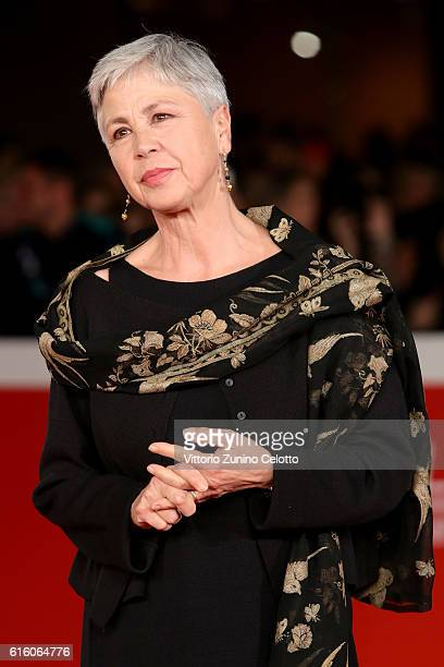 Ottavia Piccolo walks a red carpet for '7 Minuti' during the 11th Rome Film Festival at Auditorium Parco Della Musica on October 21 2016 in Rome Italy