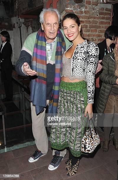 Ottavio Missoni and Margherita Missoni attend the Missoni Fashion Show as part of Milan Fashion Week Menswear A/W 2011 on January 16, 2011 in Milan,...