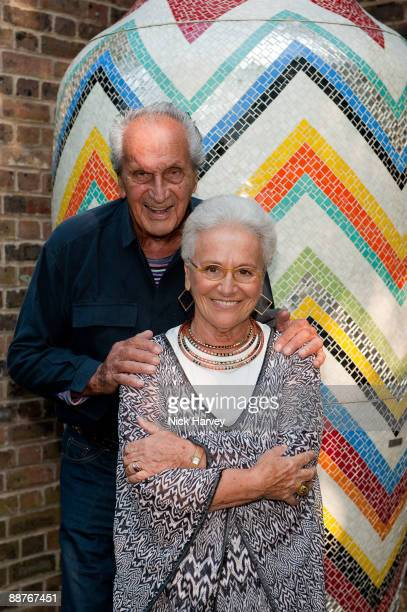 Ottavio Missoni and Rosita Missoni attend the private view hosted by Missoni at The Estoric Collection of Modern Italian Art on June 30, 2009 in...