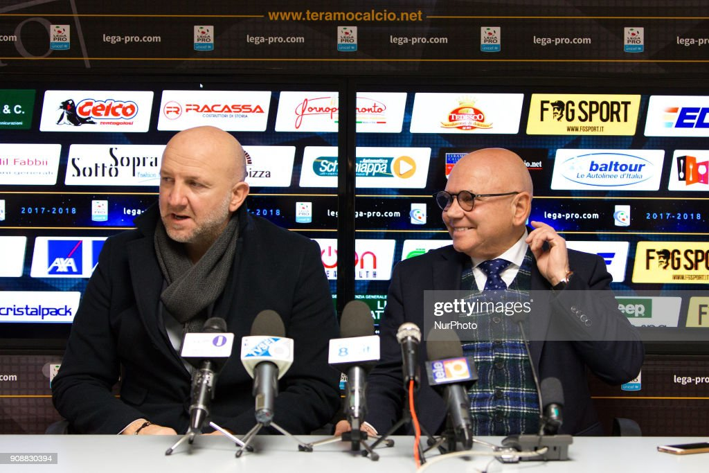 Presentation of Ottavio Palladini new head coach of Teramo Calcio 1913