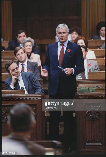 John Turner Opposition leader speaking in the Canadian House of Commons