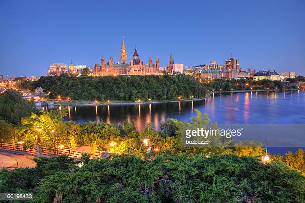 ottawa city and river - buzbuzzer stock pictures, royalty-free photos & images