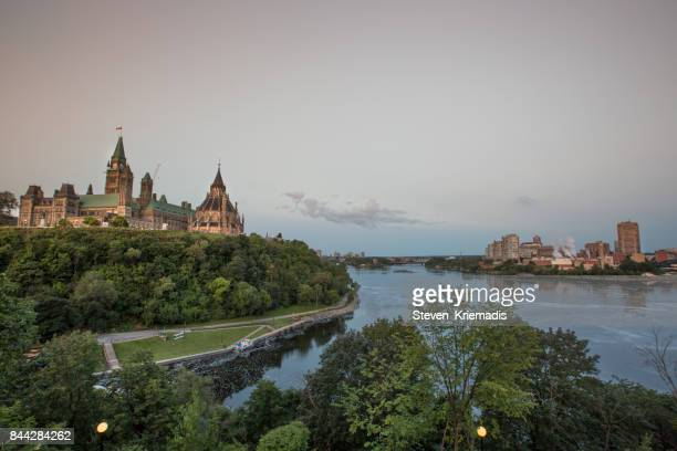 ottawa - gatineau & parliament hill, canada's capital region - gatineau stock photos and pictures