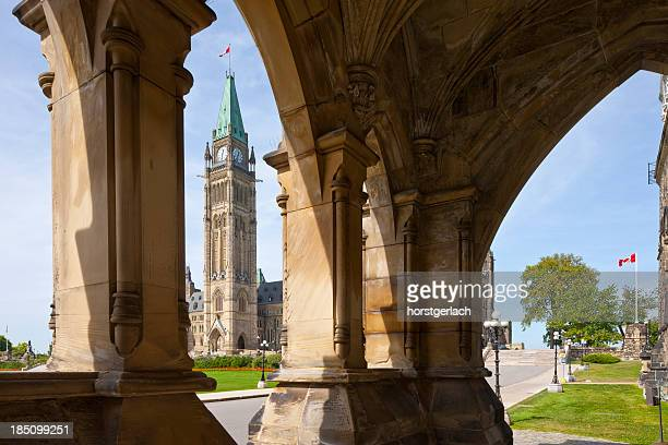ottawa, government building on parliament hill - ottawa stock pictures, royalty-free photos & images