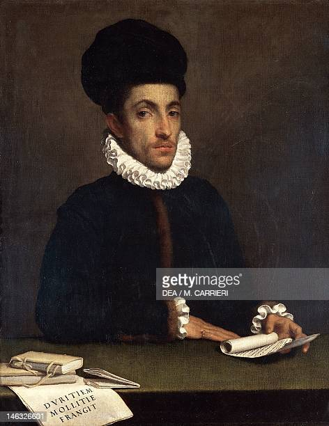 Ottawa National Gallery Of Canada Portrait of a young gentleman ca 1570 by Giovanni Battista Moroni oil on canvas 979x782 cm