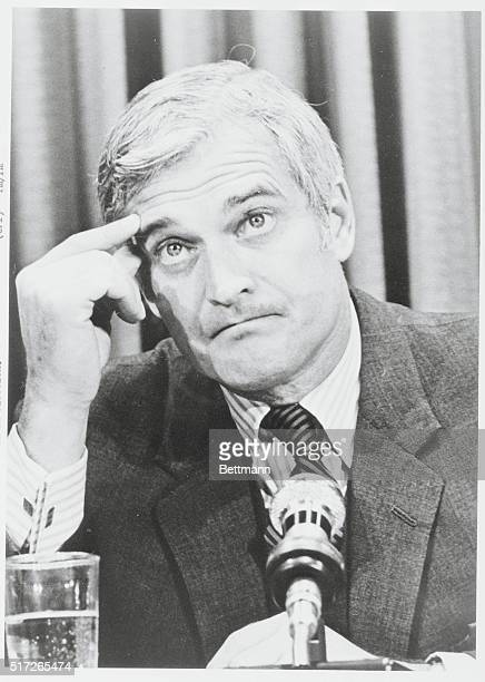 Ottawa Ontario Canada Finance Minister John Turner talks to newsmen after introducing the Liberal Government's budget in the House of Commons late...