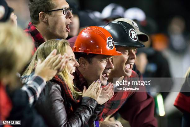 Ottawa Redblacks fans cheer their team The Saskatchewan Rough Riders defeated the Ottawa Redblacks 1817 in Canadian Football League action at TD...