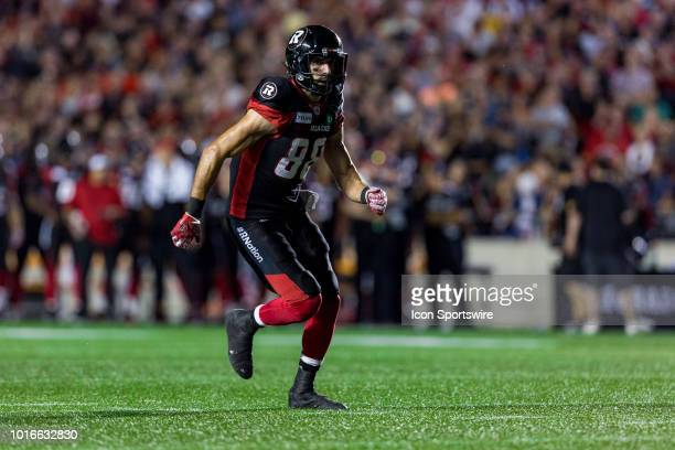 Ottawa Redblacks wide receiver Brad Sinopoli runs down field during Canadian Football League action between the Montreal Alouettes and Ottawa...