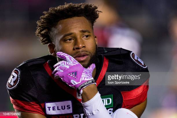 Ottawa Redblacks wide receiver Diontae Spencer poses for the camera during warmup before Canadian Football League action between the Winnipeg Blue...