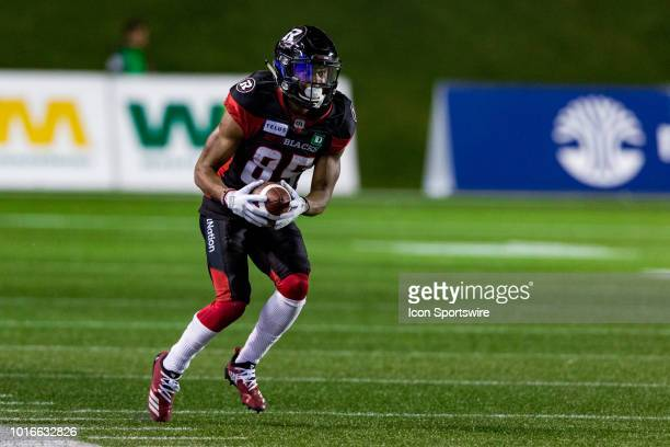Ottawa Redblacks wide receiver Diontae Spencer runs with the football during Canadian Football League action between the Montreal Alouettes and...