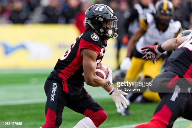 Ottawa Redblacks wide receiver Diontae Spencer runs with the football during Canadian Football League Eastern Final action between the Hamilton...