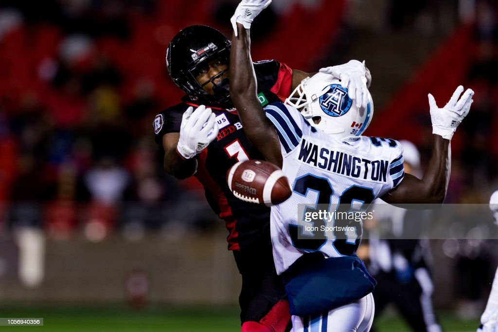 CFL: NOV 02 Toronto Argonauts at Ottawa Redblacks : News Photo