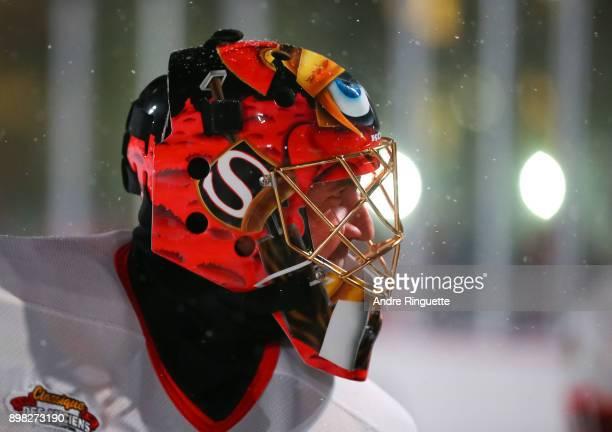 Ottawa Senators alumni Patrick Lalime looks on during the 2017 Scotiabank NHL100 Classic Ottawa Senators Alumni Game on Parliament Hill on December...