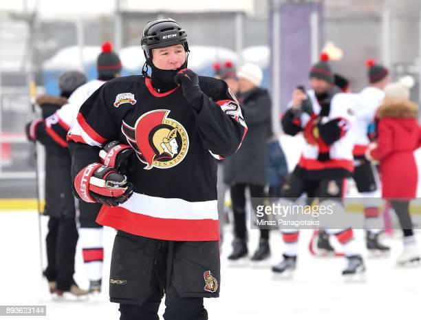 Ottawa Senators alumni Shaun Van Allen skates during the 2017 Scotiabank NHL100 Classic Ottawa Senators Alumni Skate on Parliament Hill on December...