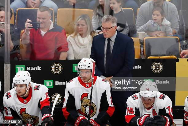 Ottawa Senators associate coach Mark Crawford before a game between the Boston Bruins and the Ottawa Senators on October 8 at TD Garden in Boston...