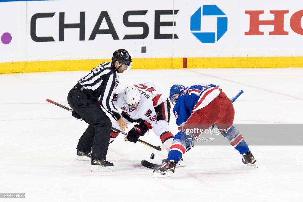 NHL: MAY 02 2nd Round Game 3 - Senators at Rangers : News Photo
